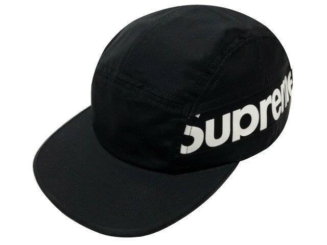 SUPREME シュプリーム ★ 18AW 新品 黒 Side Panel Camp Cap サイド ロゴ パネル キャンプ キャップ BLACK ブラック