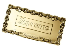 SUPREME シュプリーム ☆ 18AW 新品 ゴールド Chain License Plate Frame チェーン ライセンス プレート フレーム GOLD