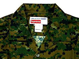 SUPREME シュプリーム COMME des GARCONS SHIRT コムデギャルソン コラボ 13SS 新品 カモフラ柄 半袖シャツ Loop Collar Shirt 黒ドットオリーブ迷彩 デジカモ