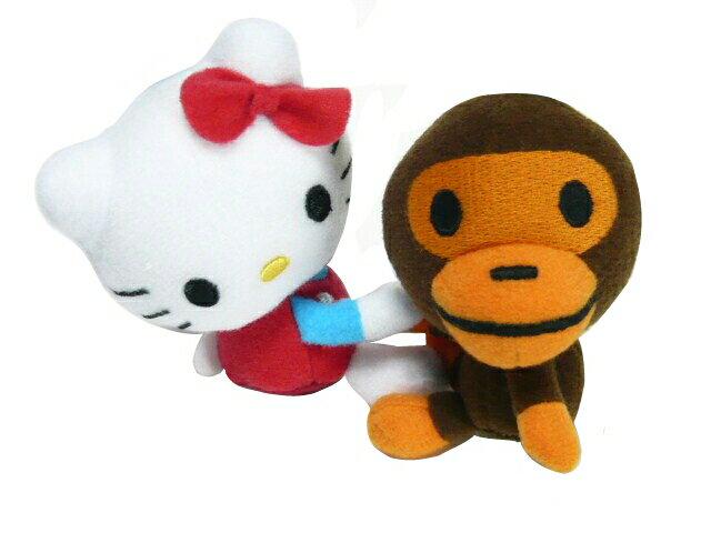 A BATHING APE ア ベイシング エイプ SANRIO BABY MILO STORE☆2010新品 キティ マイロ モバイルクリーナーマスコット KITTYxMILO