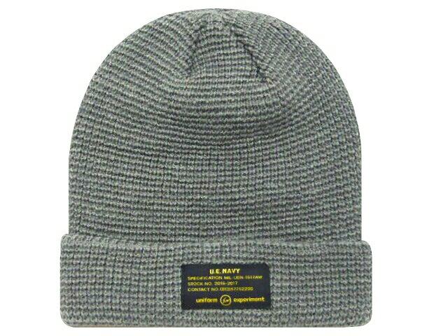 SOPH. uniform experiment ソフ ユニフォームエクスペリメント ★2016AW新品 灰 UEN KNIT CAP ニット帽 ビーニー GREY UE