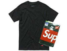 SUPREME シュプリーム ヘインズ 新品 黒 Hanes Tagless (3 Pack) Tシャツ アンダーウェアー 3枚パック BLACK