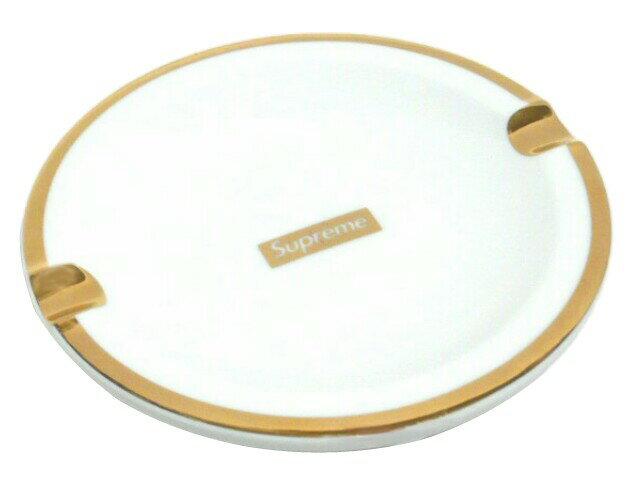 SUPREME シュプリーム ★2017AW新品 白金 Gold Trim Ceramic Ashtray アッシュトレイ 灰皿 小物入れ