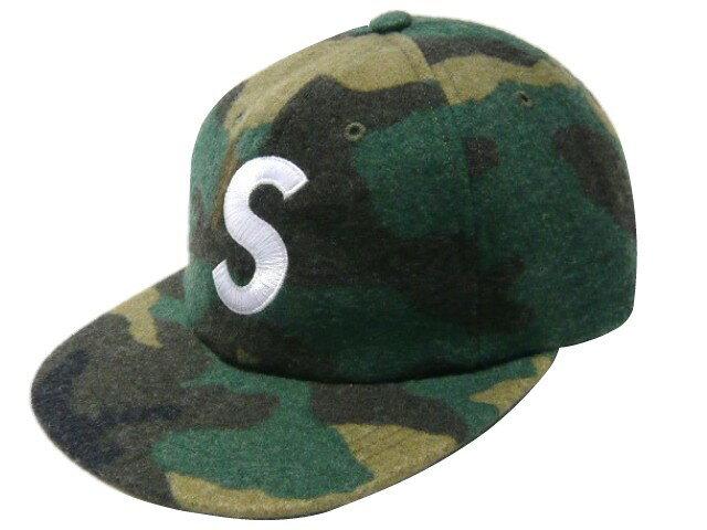 SUPREME シュプリーム ★ 17AW 新品 迷彩 Wool S Logo 6 Panel Sロゴ 6パネル キャップ CAMO
