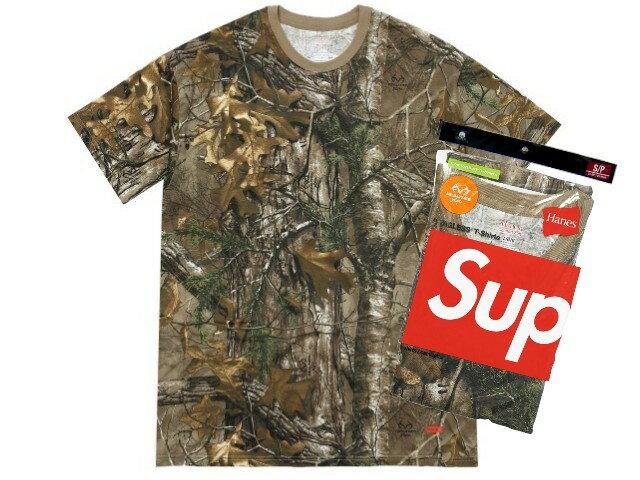 SUPREME シュプリーム ヘインズ★新品 ウッドバイン 柄 Hanes Realtree Tagless Tees (2 Pack) Tシャツ アンダーウェアー 2枚パック Woodbine