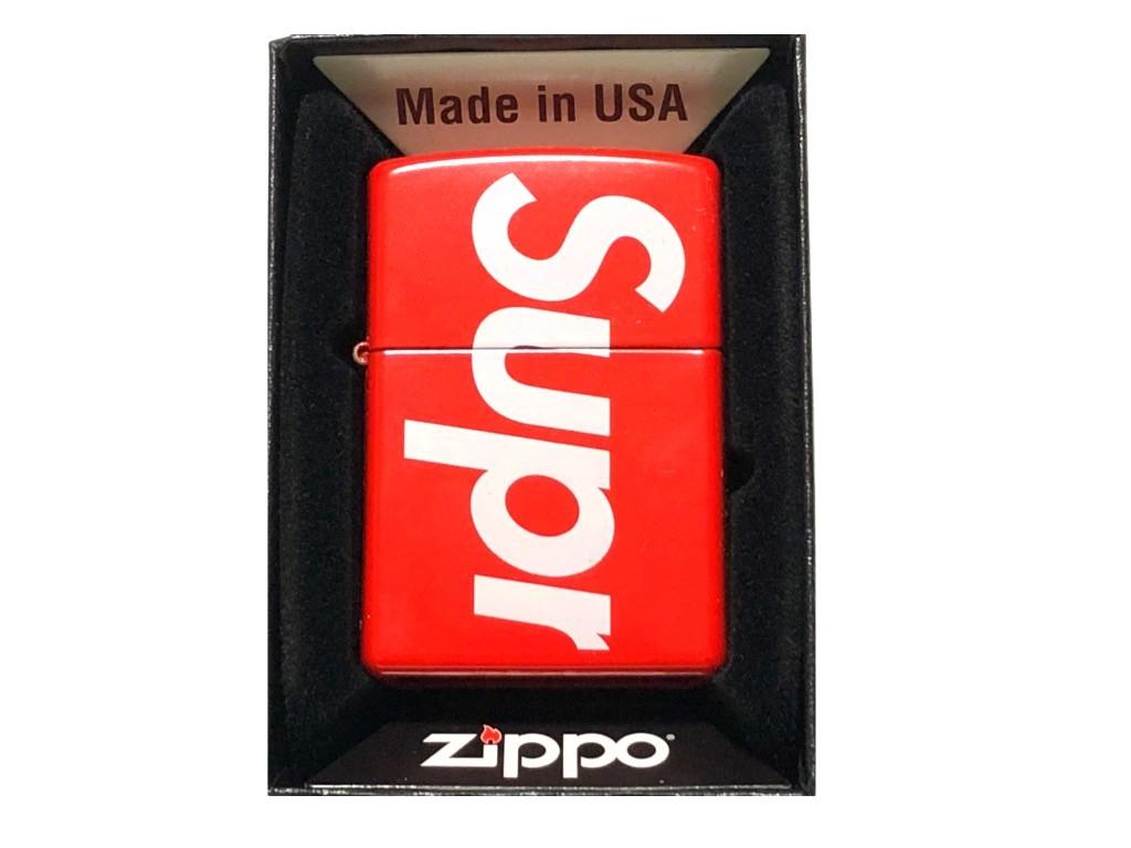 SUPREME シュプリーム ジッポライター ☆ 18SS 新品 赤 LOGO Zippo ロゴ RED レッド