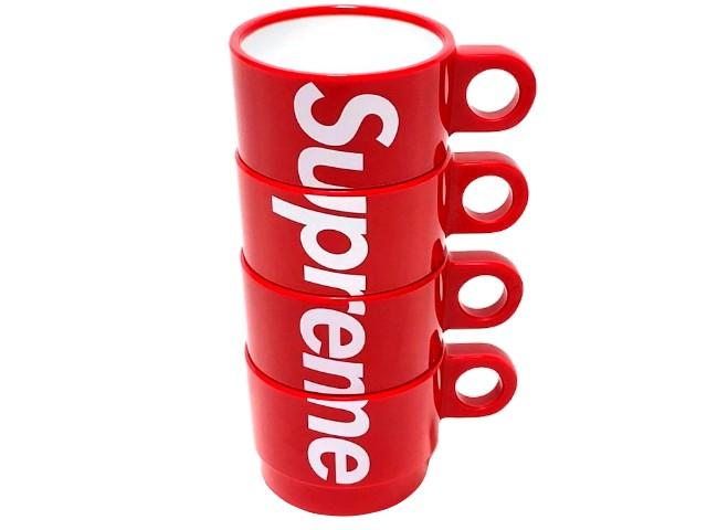 SUPREME シュプリーム 18SS 新品 赤 マグカップ Supreme Stacking Cups (Set of 4) 4個 RED