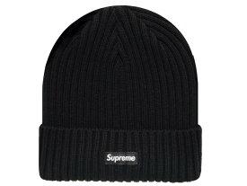 SUPREME シュプリーム 20SS 新品 黒 Overdyed Ribbed Beanie ニット帽 リブニット ビーニー コットン 折り返し Black