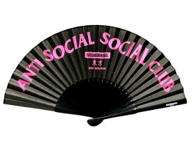 NEIGHBORHOOD ネイバーフッド ANTI SOCIAL SOCIAL CLUB アンチソーシャルソーシャルクラブ 店舗限定 18SS 新品 黒 扇子 ASSC BP‐FAN BLACK