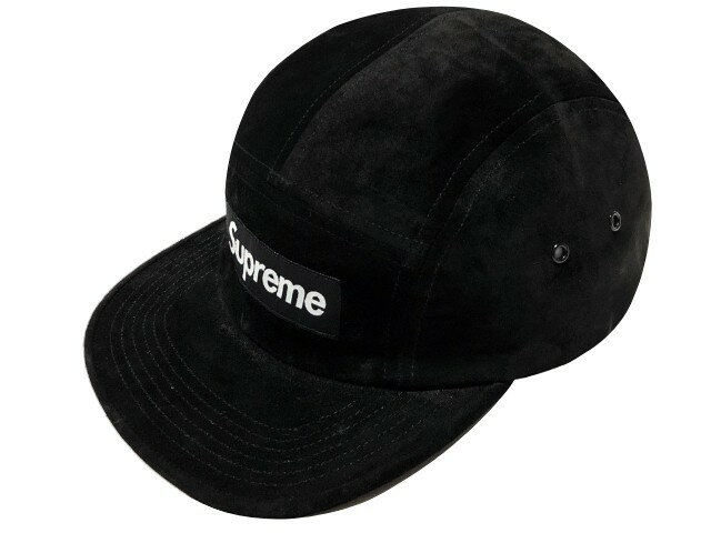 SUPREME シュプリーム ★ 18SS 新品 黒 Suede Camp Cap スエード キャンプ キャップ BLACK
