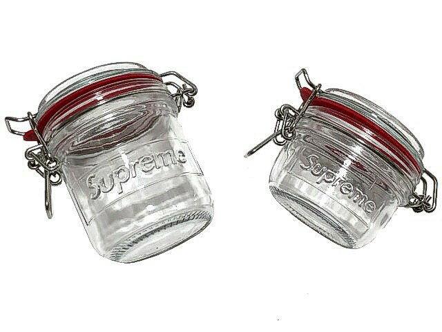SUPREME シュプリーム ★ 18SS 新品 メイソン ジャー 2個セット Jar Set (Set of 2) ガラス瓶 キャニスタ— クリア—