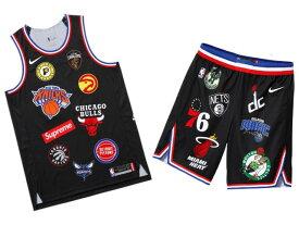SUPREME シュプリーム NIKE ナイキ NBA コラボ ★ 18SS 新品 黒 上下セット NBA Teams Authentic Jersey & Short ジャージー タンクトップ ショーツ セット BLACK