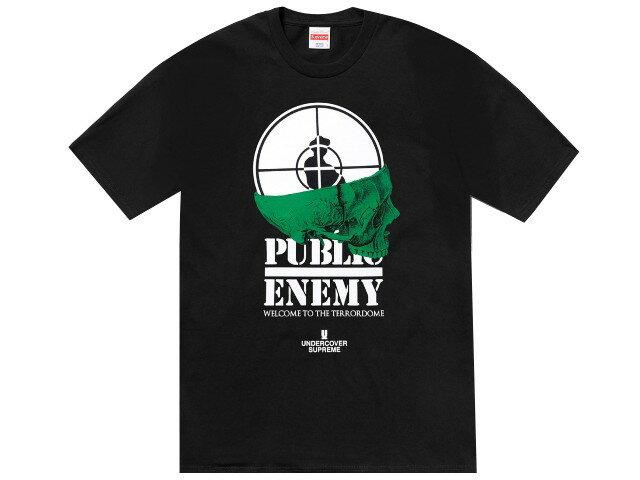 SUPREME シュプリーム UNDER COVER アンダーカバー パブリックエネミー コラボ ★ 18SS 新品 黒 Public Enemy Terrordome Tee プリント Tシャツ  BLACK ブラック