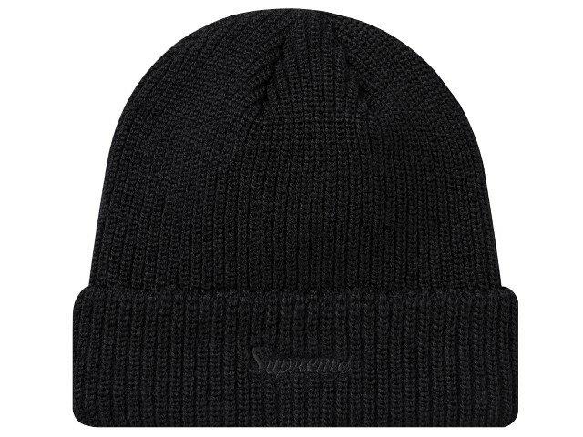 SUPREME シュプリーム ★ 18AW 新品 黒 Loose Gauge Beanie ニット帽 ルーズ ゲージ ビーニー 折り返し Black