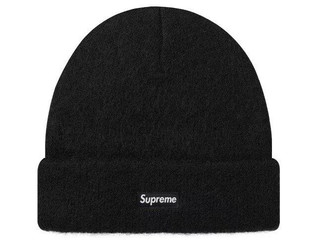 SUPREME シュプリーム ★ 18AW 新品 黒 Mohair Beanie ニット帽 モヘア ビーニー 折り返し Black ブラック