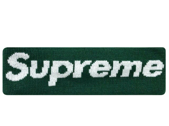 SUPREME シュプリーム ニューエラ コラボ ★ 18AW 新品 緑 ヘッドバンド New Era Big Logo Headband ヘアバンド Dark Green グリーン
