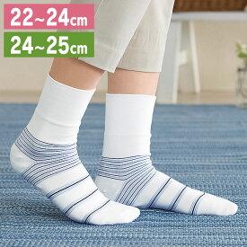 【送料無料】足うら美人しめつけないタイプ 22-24cm・24-25cm 新潟県自社工場製【かかとケア 靴下 かかと ケア 角質 保湿 がさがさ つるつる うるおい 日本製】