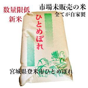 宮城県登米市 自家製 新米 ひとめぼれ30Kg 玄米 数量限定送料無料