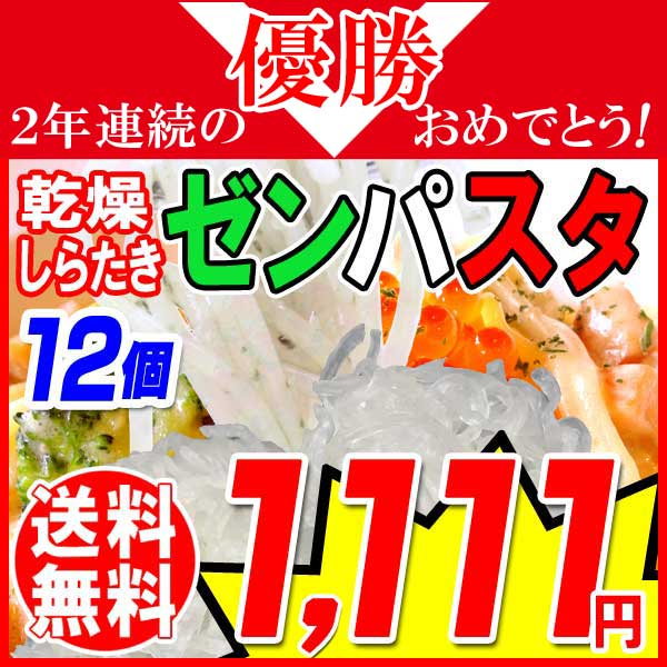 【送料無料】ゼンパスタ ZENPASTA 25g×12個 乾燥しらたき 糸こんにゃく お試しセット メール便限定 送料込み