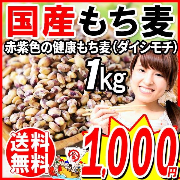 もち麦国産1kgダイシモチ送料無料もちむぎ