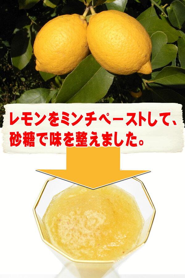 冷凍レモンミンチペースト500g×1袋広島県産業務用※同梱2袋以上で1袋おまけ付き