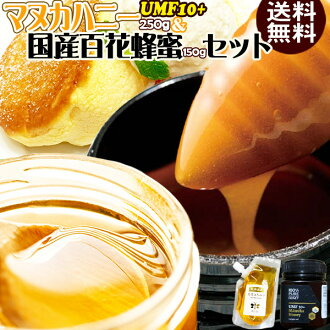 Manu Kach knee UMF10+ MG263+ 250 g (product in New Zealand) *1 and domestic variety of flowers honey 150 g set honey honey super food from New Zealand