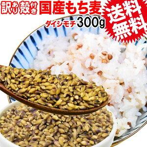 国産 もち麦 殻付き 300g×1袋 訳あり 小サイズ 雑穀米 に