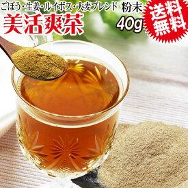 美活爽茶 40g×1袋 ルイボスティー ごぼう茶 焙煎麦 生姜