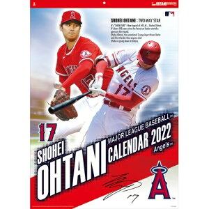 【大谷翔平2022カレンダー】 壁掛けタイプ 短冊 2か月めくり MLB ロサンゼルス・エンゼルス CL-556