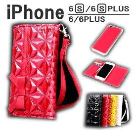 11cce15ba1 【ポイント2倍】 アウトレット ワケあり outlet iphone6s ケース iphone6splus 手帳型 iphone6 ケース エナメル  ストラップ iPhone6 PLUS レザー ケース 手帳 革 ...