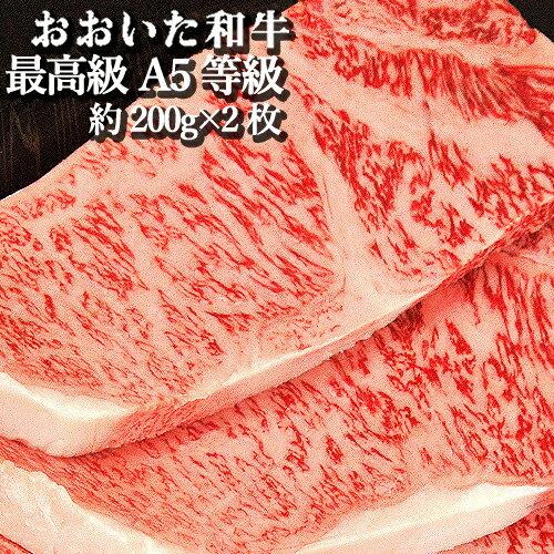 和牛日本一の大分県 A5等級 ステーキ おおいた和牛 約200g×2枚 豊後牛【送料無料】
