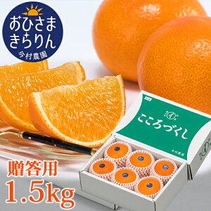 5%還元 大分県産オレンジ 贈答用 おひさまきらりん 1.5kg (清見タンゴール/温州みかん/あまくさオレンジ) 有機肥料 温室 今村農園【送料無料】【お歳暮ギフトクーポン】
