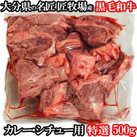 [送料還元]和牛日本一の大分県産 おおいた和牛赤身スネ肉 500g チャンピオン牛の匠牧場産 おおいた豊後牛 カレー・シチュー用 牛煮込み用【送料無料】【#元気いただきますプロジェクト】