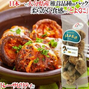 [限定20%OFFクーポン]椎茸日本一の大分県 柔らかくマイルドな食感 干しシイタケ品種「うまみだけ/とよくに」80gパック トレーサビリティ付 大分県椎茸農協