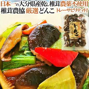 椎茸日本一の大分県産100% クヌギ原木栽培干しシイタケ 肉厚な「冬/どんこ」100g 大分県椎茸農協 トレーサビリティ付