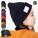 CABALLERO(キャバレロ) レディース 帽子 ニット帽 ネームタグ付き/無し 選べる♪ 厚手の ニット ワッチ リブ編み / …