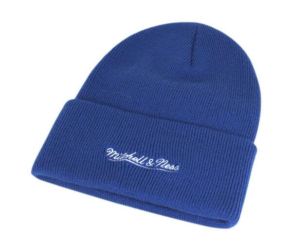 オンスポッツ別注 ミッチェル&ネス(Mitchell&Ness)ニット帽 ニットキャップ ブルー 帽子 ONSPOTZ ORIGINAL KNIT CAP BRANDED BLUE メンズ 【返品・交換対象外】