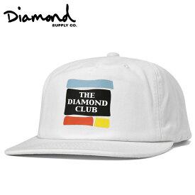 ダイヤモンドサプライ キャップ スナップバック 5パネル UNCONSTRUCTED ホワイト DIAMOND SUPPLY【返品対象外】