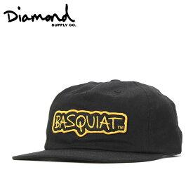ダイヤモンドサプライ キャップ サイズ調整 BASQUIAT SIGN UNSTRUCTURED ブラック DIAMOND SUPPLY メンズキャップ レディースキャップ メンズ帽子 レディース帽子 黒 ぼうし ブランド おしゃれ