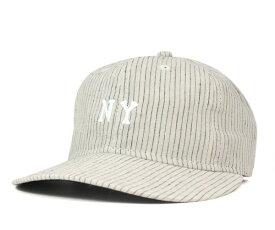 オンスポッツ別注 エベッツフィールド(Ebbets Field Flannels)ストラップバックキャップ ストライプベージュ 帽子 ONSPOTZ ORIGINAL STRAPBACK CAP STRIPE BEIGE【返品・交換対象外】