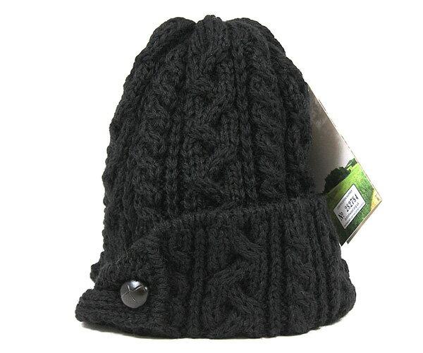 オンスポッツ別注 ハイランド2000(HIGHLAND 2000)ニットキャップ ニット帽 ボトムボンネット ブラック 帽子 ONSPOTZ ORIGINAL KNIT CAP BUTTOM BONNET 23CM HAT BLACK メンズ【返品・交換対象外】