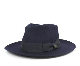 burikusutonfedorahattoropesuneibi帽子BRIXTON FEDORA HAT LOPEZ NAVY[大的尺寸人][NV]#HA:F