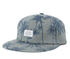キャバレロ ストラップバックキャップ カルモナ パームツリー シャンブレー ネイビー 帽子 CABALLERO STRAPBACK CAP CARMONA PALM TREE CHAMBRAY NAVY メンズ 【返品・交換対象外】