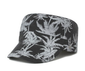 キャバレロ ワークキャップ テルエル パームツリー シャンブレー ブラック 帽子 CABALLERO WORK CAP TERUEL PALM TREE CHAMBRAY BLACK メンズ 【返品・交換対象外】