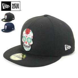 ニューエラ NEW ERA 帽子 キャップ 59FIFTY メキシコ シュガースカル ぼうし おしゃれ シンプル ストリート ブランド サイズ展開 大きいサイズ 5950 CINCO DE MAYO BLK MULTI 春夏秋冬 メンズ レディース