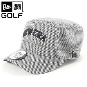 ニューエラ NEW ERA ゴルフ GOLF ワークキャップ ミリタリーキャップ WM-01 ADJUSTABLE ハウンドトゥース 帽子 ぼうし おしゃれ ストリート ブランド サイズ調整 大きいサイズ 春夏秋冬 メンズ レデ