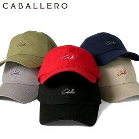 キャバレロ キャップ サイズ調整 SCRIPT LOGO LORCA ブラック CABALLERO 帽子 ぼうし メンズキャップ レディースキャップ ローキャップ ブランド 夏 おしゃれ メンズ帽子 レディース帽子 【MB】 【返品・交換対象外】