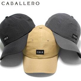 キャバレロ キャップ サイズ調整 VIC 60/40 CLOTH CABALLERO ローキャップ ブラック グレー ベージュ メンズキャップ レディースキャップ ブランド おしゃれ 秋冬 メンズ帽子 レディース帽子 黒 ぼうし