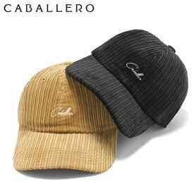 キャバレロ キャップ サイズ調整 SCRIPT LOGO LORCA CORDUROY CABALLERO コーデュロイ ぼうし 秋冬 ブランド おしゃれ ローキャップ メンズキャップ レディースキャップ ブラック ベージュ 黒 メンズ帽子 レディース帽子