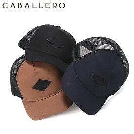 キャバレロ メッシュキャップ CALVIA RHOMBUS LEATHER PACTH CABALLERO